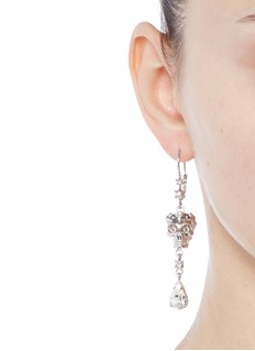 Alexander McQueenSwarovski crystal royal skull pendant drop earrings