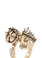 'Kings & Queens' Swarovski crystal skull ring