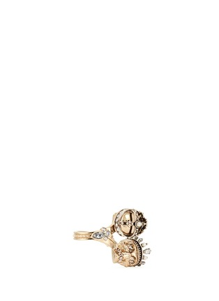 Figure View - Click To Enlarge - Alexander McQueen - 'Kings & Queens' Swarovski crystal skull ring