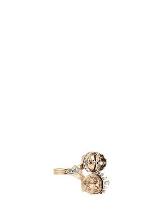 Alexander McQueen-'Kings & Queens' Swarovski crystal skull ring
