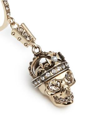 - Alexander McQueen - 'Kings & Queens' Swarovski crystal skull earrings