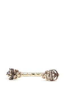 Alexander McQueen'King and Queen' skull cuff