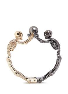 ALEXANDER MCQUEENSwarovski pearl double skeleton bracelet