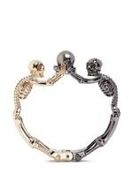 Swarovski pearl double skeleton bracelet