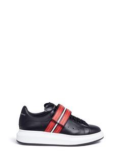 Alexander McQueen'Larry' stud strap platform leather sneakers