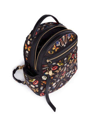 - Alexander McQueen - Small obsession print satin chain backpack