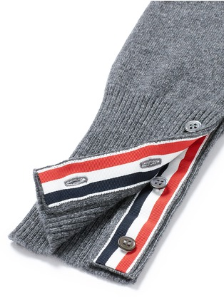 - Thom Browne - Stripe sleeve cashmere sweater