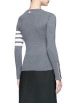 Stripe sleeve cashmere sweater