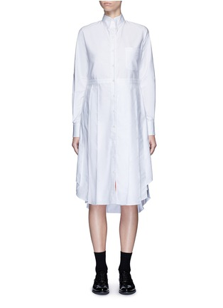 Main View - Click To Enlarge - Thom Browne - Classic pleated bottom cotton Oxford shirt dress