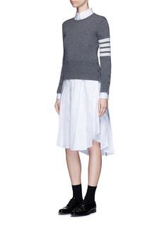 THOM BROWNEClassic pleated bottom cotton Oxford shirt dress
