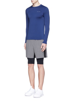 Figure View - Click To Enlarge - Falke Sports - 'Competition' long sleeve running shirt