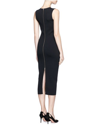 Back View - Click To Enlarge - Victoria Beckham - 'Elite' piped trim knit dress