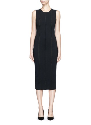Main View - Click To Enlarge - Victoria Beckham - 'Elite' piped trim knit dress