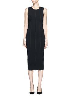 Victoria Beckham'Elite' piped trim knit dress