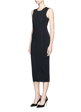 Figure View - Click To Enlarge - Victoria Beckham - 'Elite' piped trim knit dress