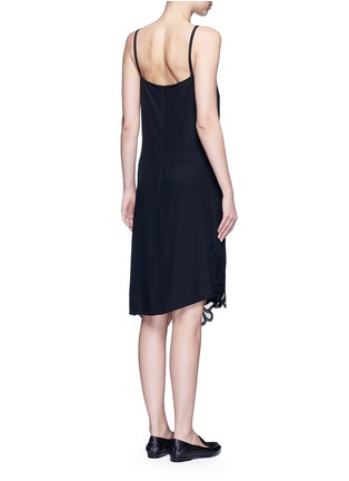 Back View - Click To Enlarge - Victoria Beckham - Floral lace silk crepe de Chine dress