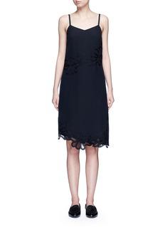 Victoria BeckhamFloral lace silk crepe de Chine dress