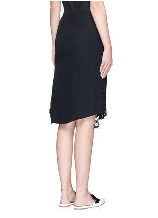 Back View - Click To Enlarge - Victoria Beckham - Guipure lace side split crepe skirt