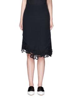 Victoria BeckhamGuipure lace side split crepe skirt