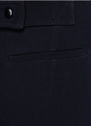 Detail View - Click To Enlarge - Victoria Beckham - Wide leg cady crepe pants