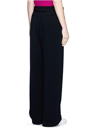 Back View - Click To Enlarge - Victoria Beckham - Wide leg cady crepe pants
