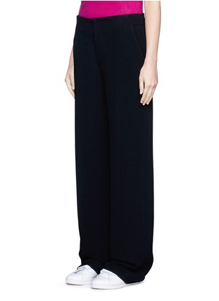 Front View - Click To Enlarge - Victoria Beckham - Wide leg cady crepe pants