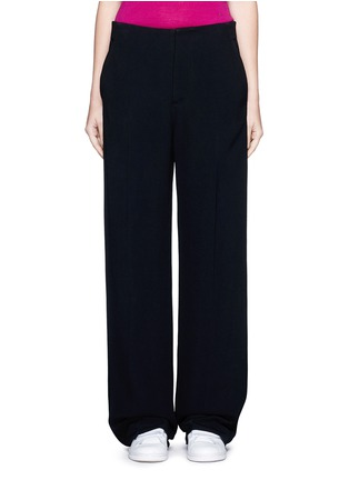 Main View - Click To Enlarge - Victoria Beckham - Wide leg cady crepe pants