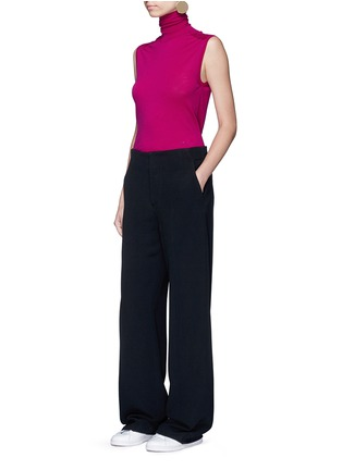 Figure View - Click To Enlarge - Victoria Beckham - Wide leg cady crepe pants