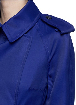 Detail View - Click To Enlarge - Victoria Beckham - Gabardine drape fluid trench coat