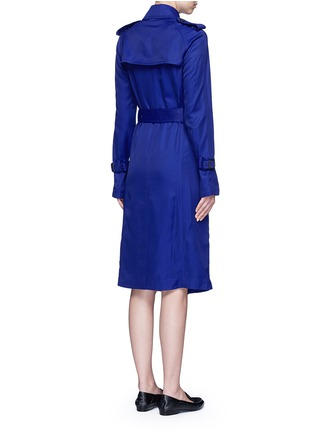 Back View - Click To Enlarge - Victoria Beckham - Gabardine drape fluid trench coat