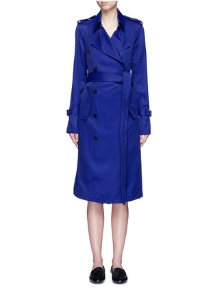 Main View - Click To Enlarge - Victoria Beckham - Gabardine drape fluid trench coat