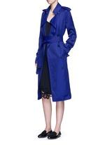 Gabardine drape fluid trench coat