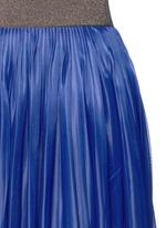 Metallic waistband plissé pleat jersey skirt
