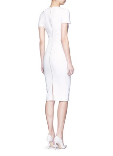 Victoria Beckham Curve seam fitted cutout shoulder dress