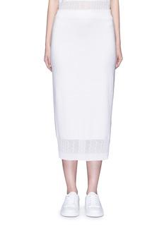 Victoria BeckhamCable knit trim pencil skirt