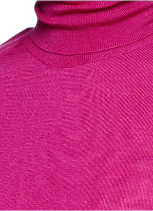 Detail View - Click To Enlarge - Victoria Beckham - Turtleneck wool knit sleeveless top