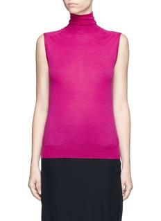 Victoria BeckhamTurtleneck wool knit sleeveless top