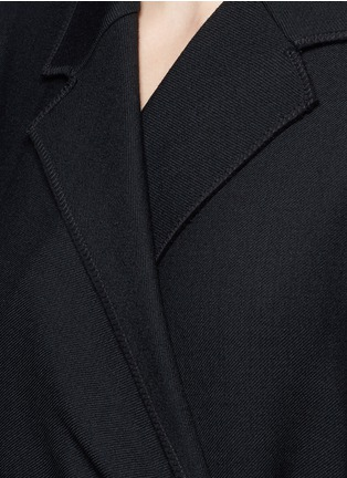 Detail View - Click To Enlarge - VICTORIA, VICTORIA BECKHAM - Tie front twill coat