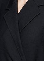 Tie front twill coat