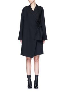 VICTORIA, VICTORIA BECKHAMTie front twill coat