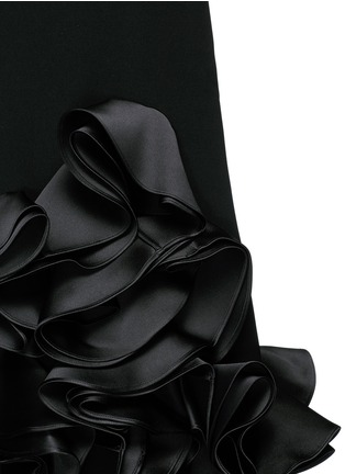 Detail View - Click To Enlarge - VICTORIA, VICTORIA BECKHAM - Duchesse satin ruffle one-shoulder dress