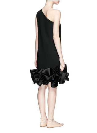 Back View - Click To Enlarge - VICTORIA, VICTORIA BECKHAM - Duchesse satin ruffle one-shoulder dress