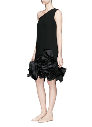 Figure View - Click To Enlarge - VICTORIA, VICTORIA BECKHAM - Duchesse satin ruffle one-shoulder dress