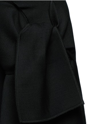 Detail View - Click To Enlarge - VICTORIA, VICTORIA BECKHAM - Tie front twill skirt