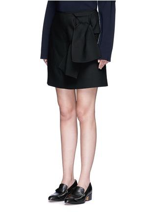 正面 - 点击放大 - VICTORIA, VICTORIA BECKHAM - 结饰混羊毛半身裙