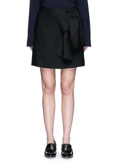 VICTORIA, VICTORIA BECKHAMTie front twill skirt