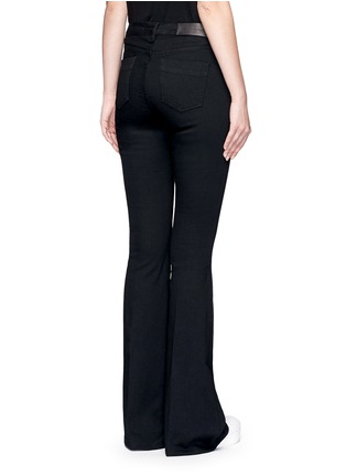 Back View - Click To Enlarge - VICTORIA, VICTORIA BECKHAM - Cotton blend flared jeans