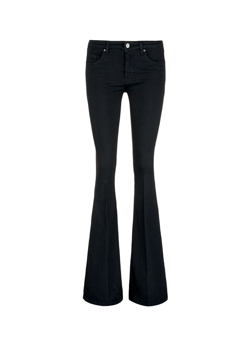 Cotton blend flared jeans by VICTORIA, VICTORIA BECKHAM