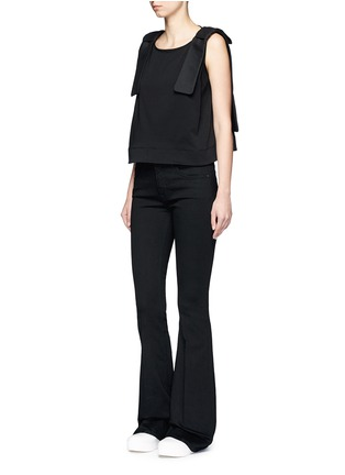Figure View - Click To Enlarge - VICTORIA, VICTORIA BECKHAM - Cotton blend flared jeans
