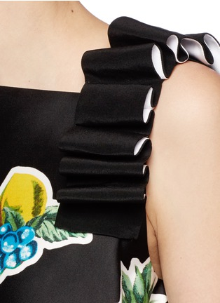 Detail View - Click To Enlarge - VICTORIA, VICTORIA BECKHAM - Mix fruit print duchesse satin dress
